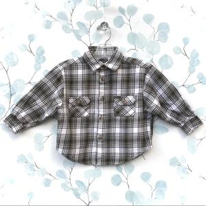 TCP Kids Plaid Button down Flannel Oxford Shirt